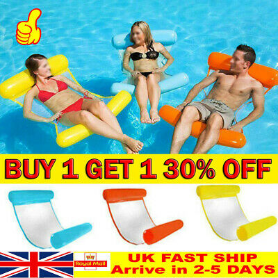 Inflatable Floating Water Hammock Float Pool Lounge Bed Swimming Chair RD • 8.29£