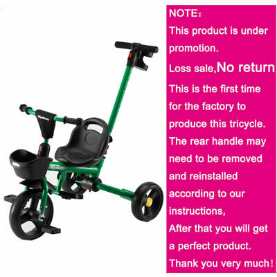 3 Wheel Pedal Kids Trik With Removeable Push Handle Boys Girls Child Ride On Toy • 33.99£