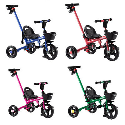 Children Baby Kids Trike Tricycle Boys Girls 3-Wheel Buggy Removable Push Handle • 33.99£