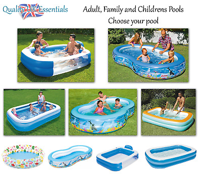 Various Sizes Inflatable Family Adult Kids Patio Garden Paddling Swimming Pool • 38.95£