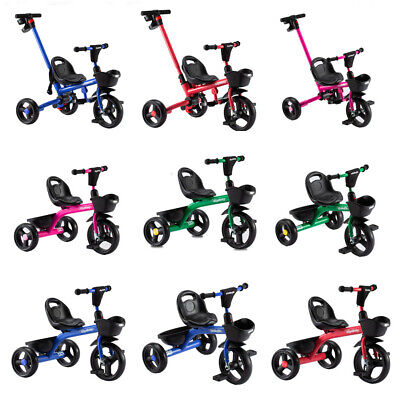 2020 New Kids Trike Boys Girls Ride On Bike W/wo Handle Push Along Tricycle Gift • 29.99£