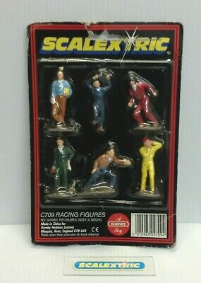 SCALEXTRIC 1970's TRACKSIDE C709 RACING FIGURES 'DRIVERS & PIT CREW' (MINT) NOS • 12.49£