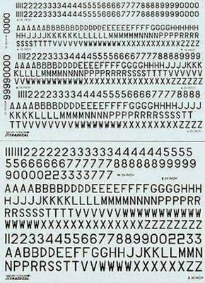 Xtradecal X72065 1/72 RAF Post War Black Serial Letters & Numbers Model Decals • 6.75£