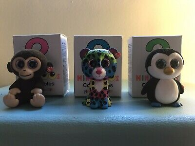 Ty Mini Boos Series 1 Set Of 3 MYSTERY CHASER DOTTY *RARE*, Waddles, Coconut • 2.99£