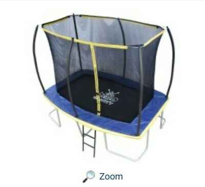 Zero Gravity Ultima 5. 10 X 7 Trampoline. Net, Frame And Ladder. • 30£