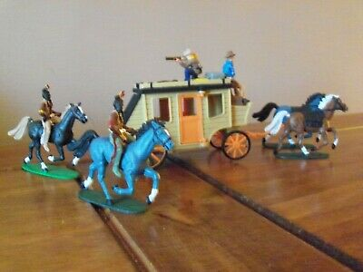 WILD WEST STAGE COACH 1/32 Scale  COWBOYS And INDIANS • 14.99£