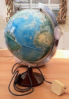 Tecodidattica Ligure Illuminated World Globe Model PA 25 LD • 25£