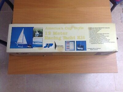 1/38th Scale Americas Cup Style 12m Racing Yacht Kit By Aristocraft (JP Polk) • 25£