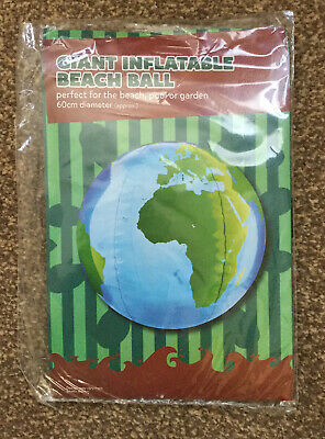 Inflatable World Beach Ball 60cm Diameter Brand New In Packaging • 1.99£
