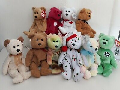 Ty Beanie Bears X 10 Excellent Condition  • 17£