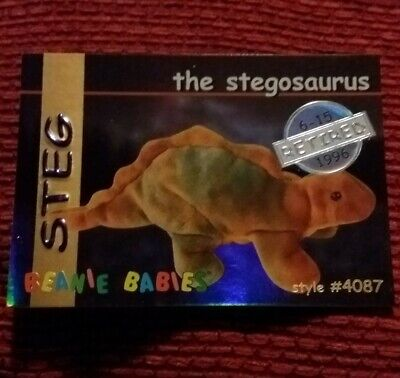 STEG (SILVER) Ty Beanie Baby/Babies Collector's Club Trading Card Series 1, 1998 • 9.99£