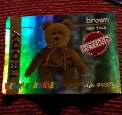 TEDDY (RED) Ty Beanie Baby/Babies Collector's Club Trading Card Series 1, 1998 • 1.99£