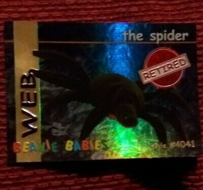 WEB (RED) Ty Beanie Baby/Babies Collector's Club Trading Card Series 1, 1998 • 1.99£