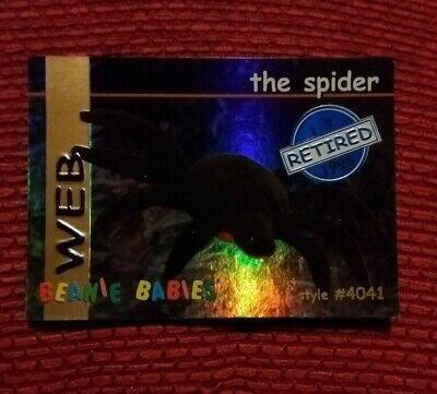 WEB (BLUE) Ty Beanie Baby/Babies Collector's Club Trading Card Series 1, 1998 • 4.99£