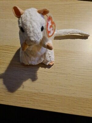 Cheezer The Mouse TY Beanie Baby Retired With Tags And Tag Protector. Genuine. • 1.99£