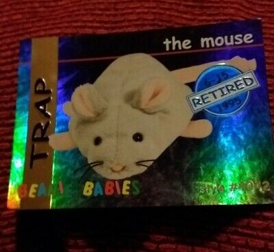 TRAP (BLUE) Ty Beanie Baby/Babies Collector's Club Trading Card Series 1, 1998 • 4.99£