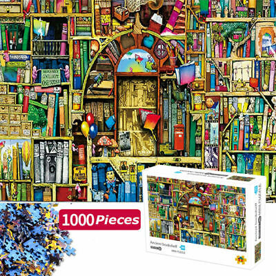 Jigsaw 1000 Pieces Puzzles The Bizarre Bookshop Decompression Game Colourful Toy • 9.99£