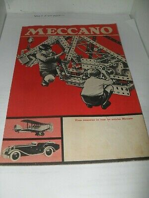 Rare French Meccano Leaflet Toy Catalogue 1933 Edition V Good For Age • 5.99£