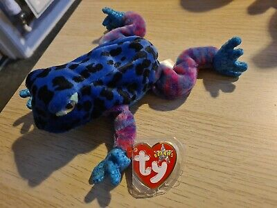 TY Beanie Baby Dart The Frog With Tag, Excellent Condition • 1.50£