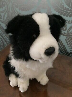 "Plush Boarder Collie / Sheep Dog Toy Teddy Height 9"" GC • 9.99£"