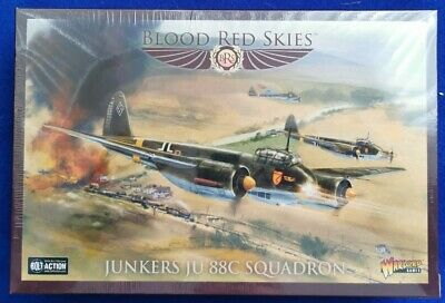 Warlord Games Blood Red Skies Junkers 88C Squadron NEW In STOCK  • 25£