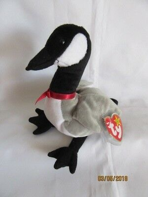 Ty Beanie Baby Loosy - Goose - Mint - Retired With Tags • 6.99£