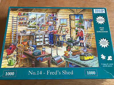 House Of Puzzles 1000 Piece Jigsaw 'Fred's Shed' • 2.20£