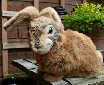 Gorgeous Large Steiff Brown Hare (Feldhase) Mint Condition...All Tags/Labels Etc • 65£
