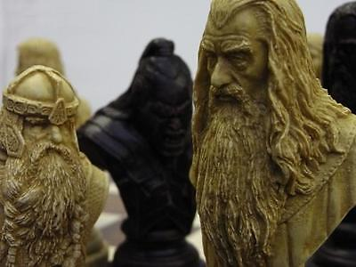 A Lord Of The Rings Chess Set Chessmen Game Pieces Collectors Large & Heavy  • 11.50£