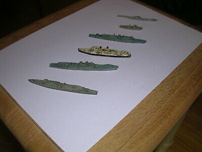 6 Small Triang Ships In Used Condition • 3.50£