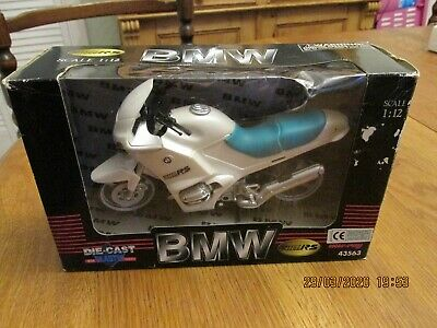 New-ray Bmw R1100rs Motorcycle 1:12 Scale Die-cast Metal Model In Box 1998 • 4.99£