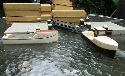 Bruynzeel Haven Speelgoed 1940 Toy Harbour And Boats Wartime Boxes Bassett Lowke • 295£