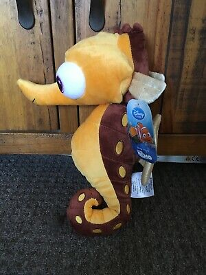 Disney Store Finding Nemo Sheldon Seahorse Soft Plush Toy Stamped Tags • 15£