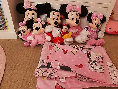 Minnie Mouse Soft Toy Bundle Disney And Single Duvet Cover Bedding  • 7.50£