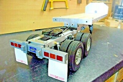 Tamiya Flatbed Trailer With Built-in Dolly / Bogie, Road-train And Load • 190£