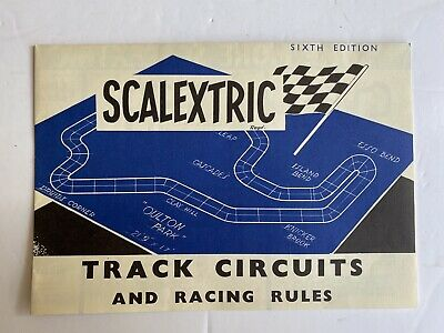 Scalextric 6th Edition Track Circuits Leaflet Very Good Condition • 7.50£