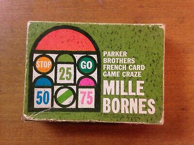 Vintage Game French Mille Bornes Cards Travel Parker Brothers • 4.50£
