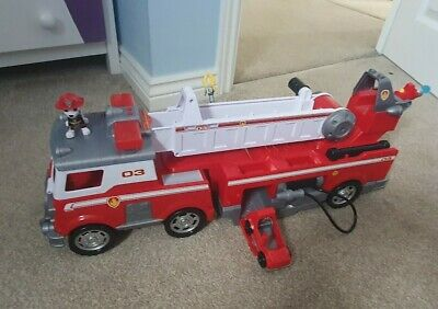 Paw Patrol Marshall Ultimate Rescue Fire Truck Engine Playset Complete • 15£