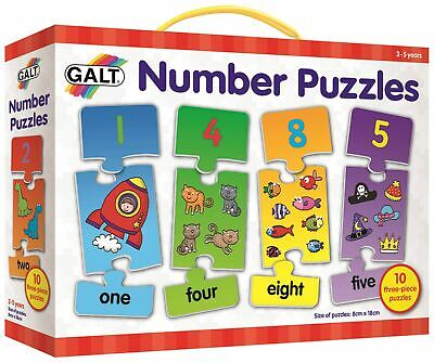 Galt NUMBER PUZZLES Children Educational Toys And Activities BN • 8.19£