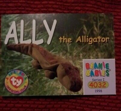 ALLY, Ty Beanie Baby/Babies Collector's Club Trading Card, Series 1 (1998) BBOC  • 0.75£