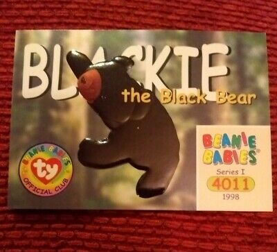 BLACKIE Ty Beanie Baby/Babies Collector's Club Trading Card Series 1, 1998 BBOC  • 0.75£