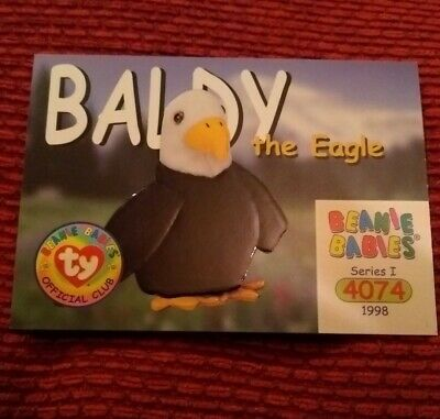BALDY Ty Beanie Baby/Babies Collector's Club Trading Card, Series 1 (1998) BBOC  • 0.75£