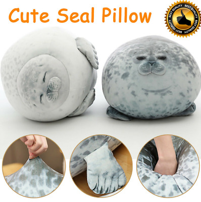 Chubby Blob Seal Plush Toy Animal Cute Ocean Pillow Pet Stuffed Doll Kids Gift  • 3.99£