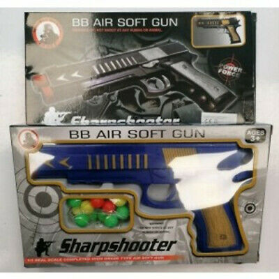Sharpshooter Bb Air Soft Gun Toy With Round Bullets - Blue • 7.99£