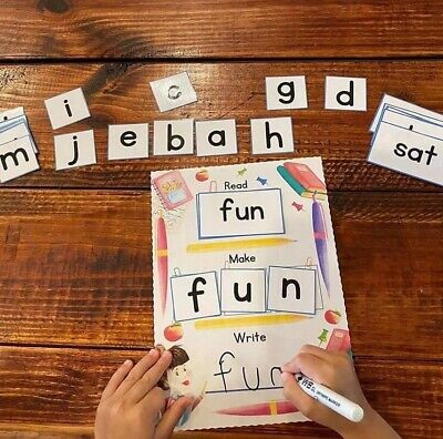 CVC. Word Building Activity. Educational Resources. Home Learning. Phonics. • 8£