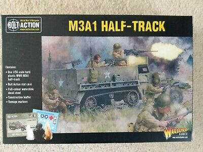 M3A1 Halftrack, 1/56 Scale (28mm), Bolt Action, Warlord Games, BNIB • 12.50£