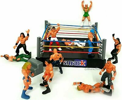 Wrestling Ring Playset With 12 Figure Kids Action Wwe Raw Smack Down Ring Toy • 8.99£