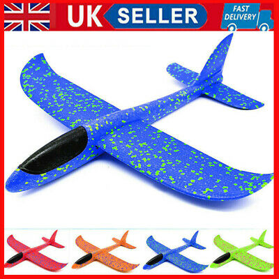 UK DIY Kids Toys Hand Throw Flying Planes Foam Airplane Glider Toy Plane Model • 4.88£