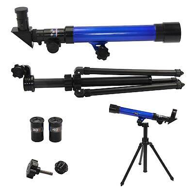 Powerful Telescope Astronomical Tripod Stargazing Educational Kids Toy Plastic • 10.59£