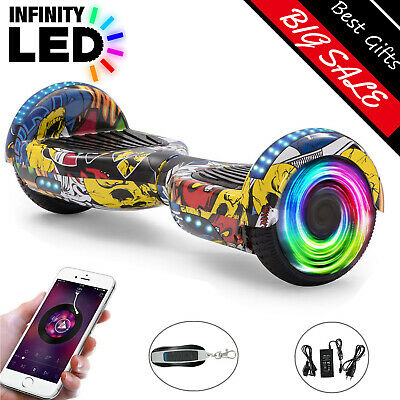 Hoverboard 6.5 Inch Hip-Hop Yellow Electric Scooters Bluetooth LED E-skateboard • 129£